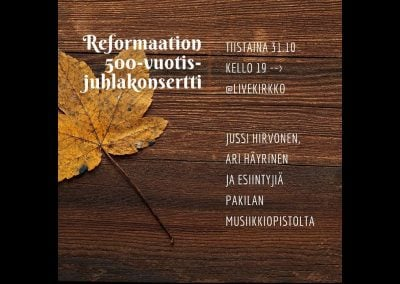 Reformaation 500-vuotisjuhlakonsertti