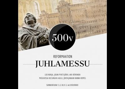 Reformaation 500-vuotisjuhlamessu 5.11.2017