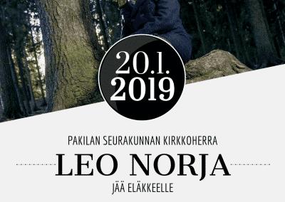 20.01.2019 Kirkkoherra Leo Norjan lähtöjuhla