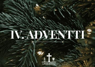 22.12.2019 – 4. Adventin jumalanpalvelus Hyvän Paimenen kirkosta